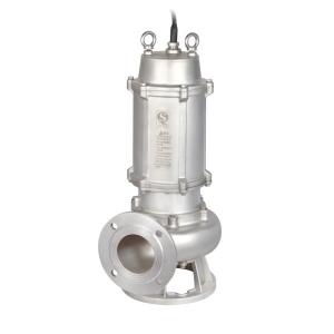 wQD)-S不锈钢精密铸造污水污物潜水电泵(国标法兰)